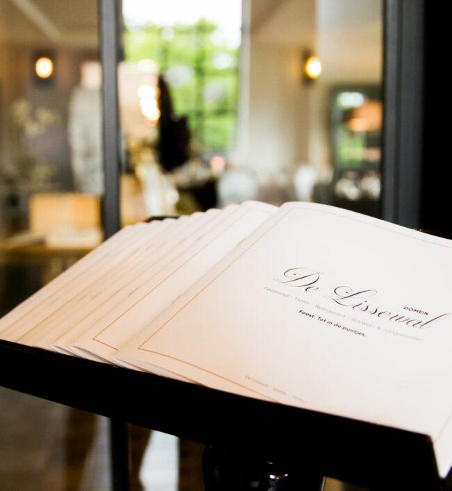 Kaart Restaurant Menu De Lissewal
